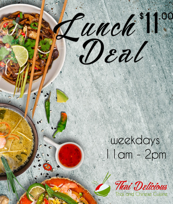 lunch specials  thai delicious  restaurant  takeaway